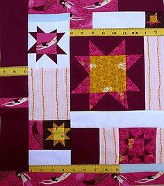 Mendocino by Heather Ross wonky stars quilt block