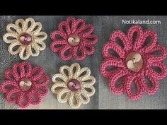 DIY Tutorial VERY EASY How to Crochet Flower - Flowers for decor - YouTube
