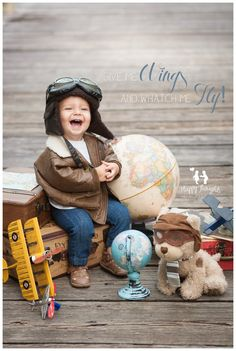 Aviator Little Pilot Baby Photography