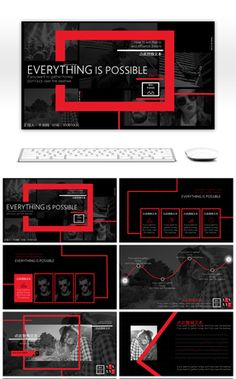 Red, Black And American Business Wind Brochures PPT Template Book Presentation, Presentation Design Template, Graphic Design Fonts, Web Design, Powerpoint Design Templates, Keynote Template, Book Design Layout, Advertising Design, Brochure Design