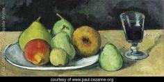 Verre Et Poires, Paul Cezanne