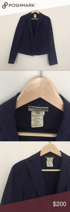 Emporio Armani cotton purple blazer Deep midnight blue/purple cotton and spandex blazer from Emporio Armani. Excellent vintage condition. No flaws! Emporio Armani Jackets & Coats Blazers