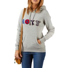 Roxy Feathers Hoody - Heather Grey | Free UK Delivery on All Orders