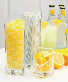 Lemony theme- when life gives you lemons, throw a lemon party! #SummerDrinks