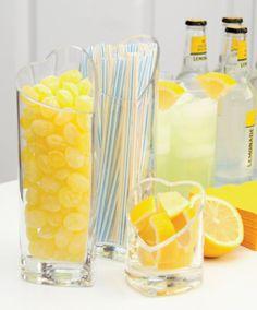Lemony theme- when life gives you lemons, throw a lemon party! #SummerDrinks