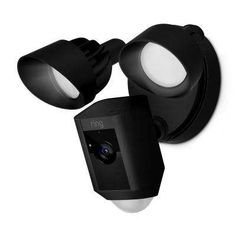 Ring Floodlight Cam Black Smart Outdoor Security Camera at Lowe's. Ring Floodlight Cam is the first HD security camera with built-in floodlights, two-way talk and a siren alarm. Floodlight Cam shines the lights and starts Hd Security Camera, Ring Security, Security Alarm, Security Cameras For Home, Video Security, Security Gadgets, Best Security Camera System, Security Tools, Security Equipment