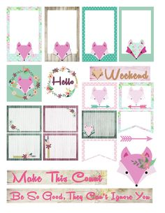 Free Foxy Printable Planner Stickers | Victoria Thatcher
