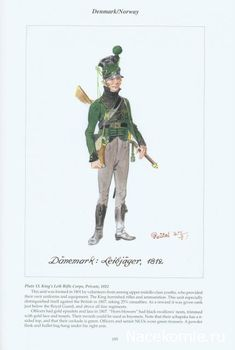Denmark & Norway: Plate King's Leib Rifle Corps, Private, 1812 Army Uniform, Military Uniforms, Kingdom Of Denmark, Austrian Empire, Fairy Tale Costumes, Battle Of Waterloo, French Revolution, Napoleonic Wars, Military History