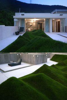 Decoração e Arquitetura by Daniel Alho / ♂ Green Sculpture Garden Design - Contemporary simple lawn