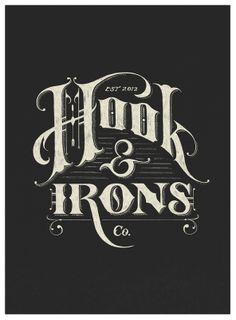 Hook&Irons NEGATIVE 25 Retro Style Logos Rebekah Jean reference
