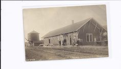 Imlay City, MI-P.O. & N. Railway Depot-1906-18 RPPC Imlay City, Folklore, Worlds Largest, Michigan, Legends, Louvre, History, Building, Travel