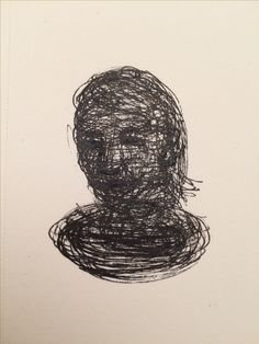 Selfie drawing by Maryse Willems, december 2016