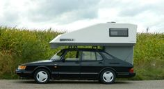 Saab 900 Toppola Car Camper, Saab 900, Camper Conversion, European Vacation, Motorhome, Caravan, Recreational Vehicles, Camping, Busses