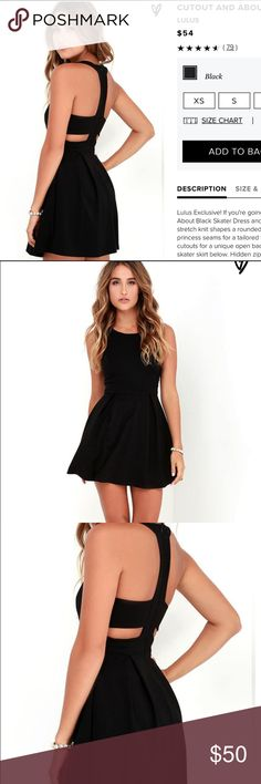 Lulus Black Cutout Dress Used stock photos because it is still in packaging!! I decided I no longer needed the dress and can't afford to ship it back. Looks like such a cute dress! Lulu's Dresses Mini