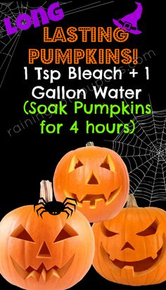 How to Easily Make your Carved Pumpkins Last WAY Longer!