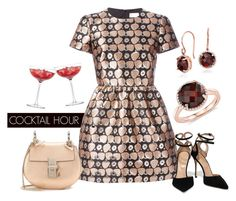 """Cocktail Hour"" by bluenile ❤ liked on Polyvore featuring LSA International, RED Valentino, Blue Nile, Sergio Rossi, Chloé, women's clothing, women's fashion, women, female and woman"