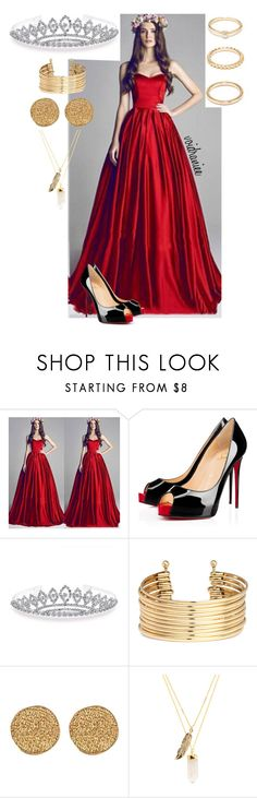 """Untitled #78"" by voidraniee on Polyvore featuring Christian Louboutin, Bling Jewelry, H&M, Karen Kane, Privileged and Forever 21"