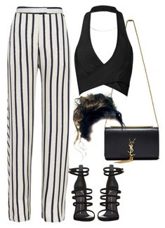 Untitled #480 by chandele on Polyvore featuring polyvore fashion style Posh Girl Nicholas Giuseppe Zanotti Yves Saint Laurent clothing