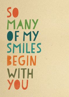 So many of my smiles begin with you / Baby Nursery Art Print / Wall Decor.