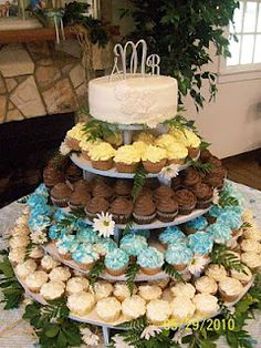 Cupcake Tree.  Perfect a layer for each of us to choose a flavor