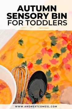 Loving this pretty fall sensory bin for toddlers and preschool aged kids! It's a great sensory activity that also works on fine motor skills. Baby Sensory Classes, Sensory Activities For Autism, Autumn Activities For Kids, Infant Activities, Motor Activities, Science Activities, Fall Sensory Bin, Toddler Sensory Bins, Toddler Fun