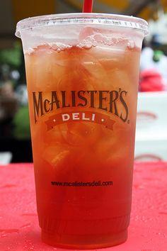 Mmm...McAlister's sweet tea!!!