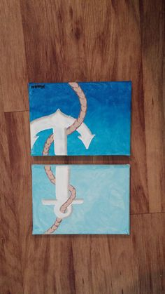 Two 5x7 canvases. Anchor