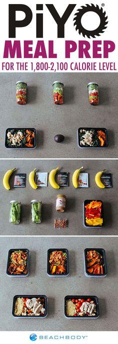 PiYo Meal Prep for the 1,800-2,100 Calorie Level   BeachbodyBlog.com