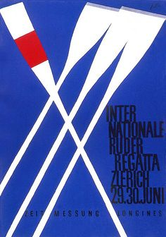 Rowing Regatta Competition graphic design art poster