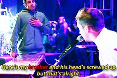 Look how nervous Zack was! I respect him!!!