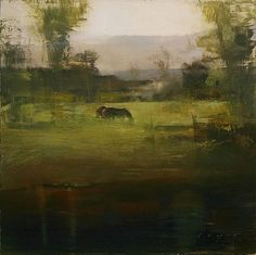 Ahhhhh. A slightly contemporary take on a classic pastoral scene. Douglas Fryer - 'A Silver Morning' - Meyer Gallery