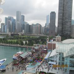 Chicago, IL. (Photo taken from ferry wheel at Navy Pier)