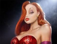 "How to Look Like Jessica Rabbit. If you've ever seen the film ""Who Framed Roger Rabbit?"" you'll probably agree that your jaw dropped when the lovely Jessica Rabbit first stepped out onto the stage to perform her musical piece ""Why Don't. Stewie Griffin, Johnny Bravo, Patrick Star, Formation Photoshop, Design Spartan, Pin Up, Mario, Roger Rabbit, Vida Real"