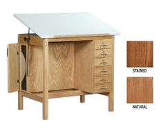 solid+wood+drafting+table+desk | SMI Specialty Drawing Tables with 6 Drawers from Daniel Smith Art ...