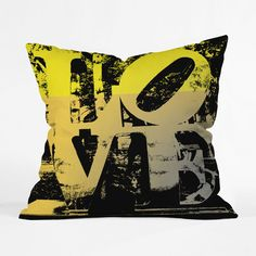 LOVE Pillow Cover in Gold