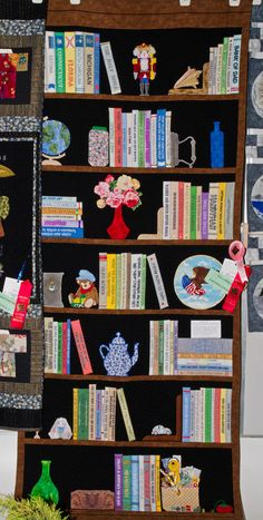 bookcase quilt...now that is some serious quilting!