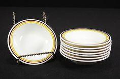 NOS Restaurant Ware Corning Pyroceram Tableware 8 Fruit Dessert Sauce Bowls