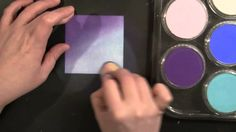 PB&J Penny Black and Jill Foster: Pan Pastels and Background Stamping