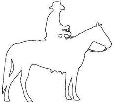 Man riding horse outline pattern