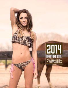2014 Realtree Girl Max-4 Camo Ruffled Biknis    #camoswimsuits #RealtreeGirl