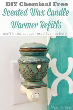 DIY Chemical Free Scented Wax Candle Warmer Refills - Don't throw out your used or old Scentsy bars!