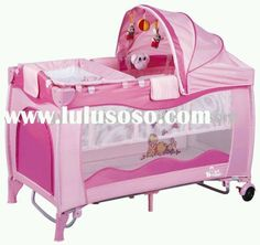 Pink baby playpack.