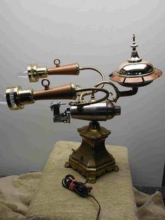 The HSM Enterprise 1701.01 Table Lamp by Joe Keller Steampunk Tendencies - Google+ #Design