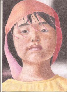 Dibujo en lápices de color, By Leisa Acuña