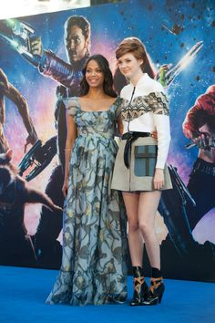 Zoe Saldana and Karen Gillan-Guardians of the galaxy premiere