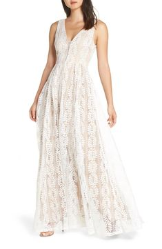 online shopping for Lulus Eliana Lace V-Neck Gown from top store. See new offer for Lulus Eliana Lace V-Neck Gown White Dresses For Women, Little White Dresses, Shower Dresses, Prom Dresses, Formal Dresses, Wedding Dresses, Dinner Dresses, Elegant Dresses, Pretty Dresses