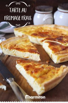 We love this very simple recipe with the good taste of fresh cheese (here kiri, but you can replace Y Recipe, Cheese Pies, Potato Dishes, French Pastries, Creamy Sauce, Roasted Vegetables, Cheese Recipes, Cheesecake Recipes, Easy Meals
