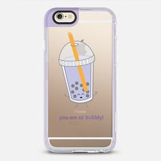 You Are So Bubbly (Bubble Tea) - New Standard iPhone 6 Case in Lavender Violet by @queeniescards   @casetify