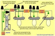 double switch wiring diagram light 2004 pt cruiser radio for multiple lights on one power coming in fixtures