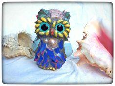 Mosaic Owl TreasureGarden Yard Beach House Decor by Whimsicalrobyn